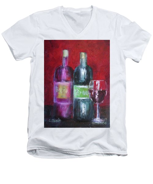 Red Wine Art Men's V-Neck T-Shirt