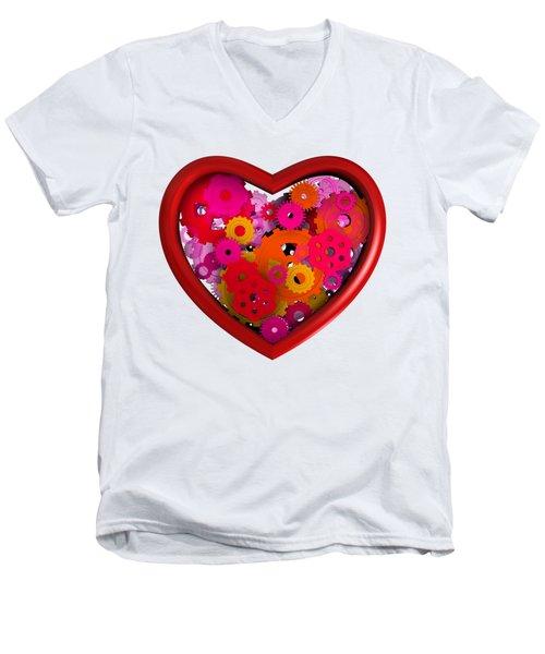 Redish Mechanical Love Men's V-Neck T-Shirt