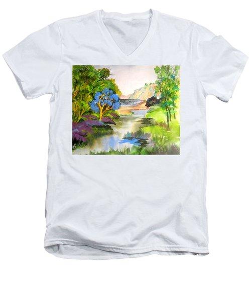 Redwood Creek  Men's V-Neck T-Shirt