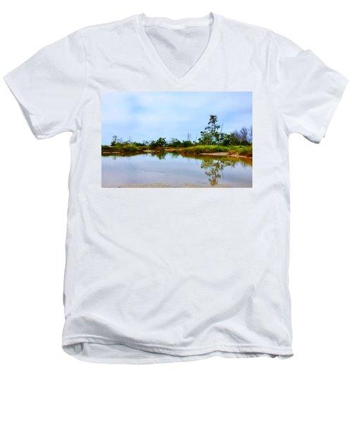 Englewood Beach Men's V-Neck T-Shirt