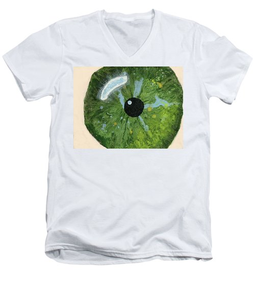 Reflected In The Eye Of A Child Never Born Men's V-Neck T-Shirt