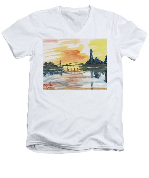 Reflecting Bridge Men's V-Neck T-Shirt