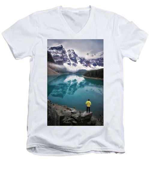 Reflecting On Reflections Men's V-Neck T-Shirt by Nicki Frates