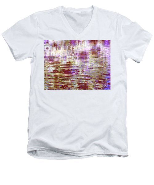 Reflecting Purple Water Men's V-Neck T-Shirt
