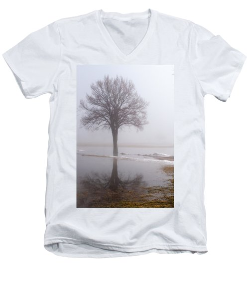 Reflecting Tree Men's V-Neck T-Shirt
