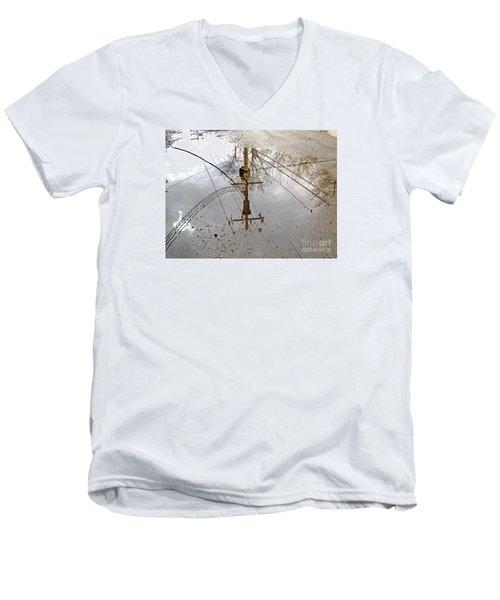 Puddle Reflections  Men's V-Neck T-Shirt by Sandra Church