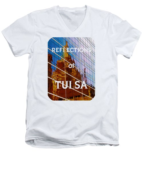 Reflection Of The Past - Tulsa Men's V-Neck T-Shirt