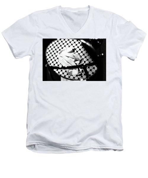 Reflection Of Towel In Mirror Men's V-Neck T-Shirt