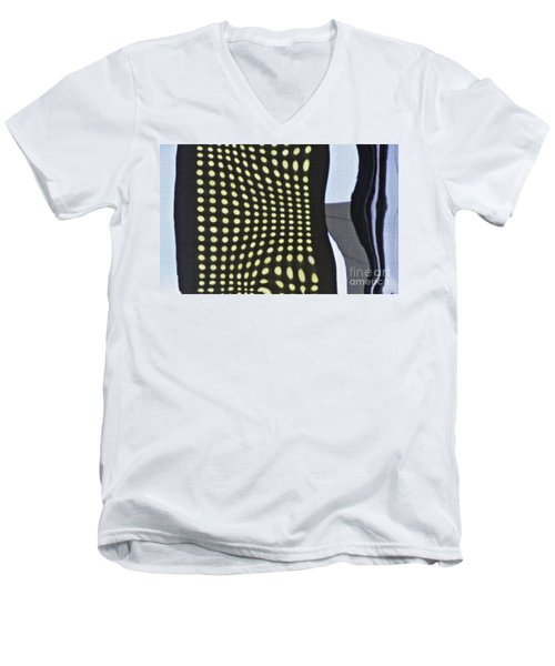 Men's V-Neck T-Shirt featuring the photograph Reflection On 42nd Street 2 by Sarah Loft