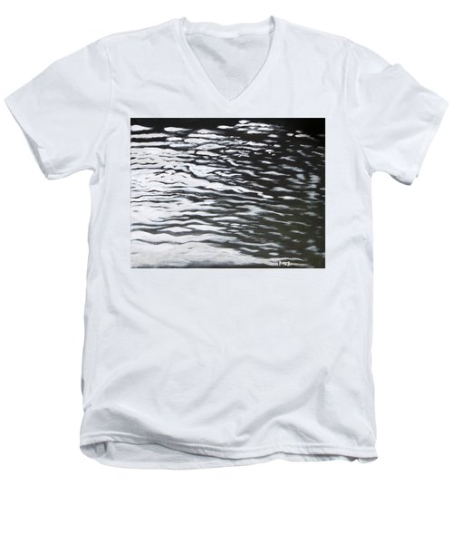 Reflections Men's V-Neck T-Shirt by Antonio Romero