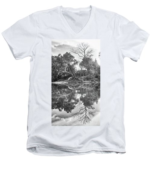 Reflections In Black And White Men's V-Neck T-Shirt