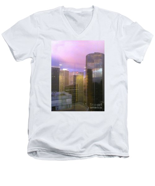 Reflections Looking East Men's V-Neck T-Shirt