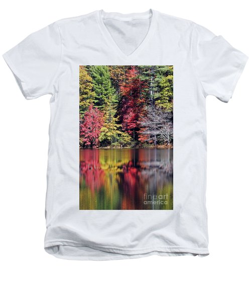 Reflections Of A Bare Tree Men's V-Neck T-Shirt