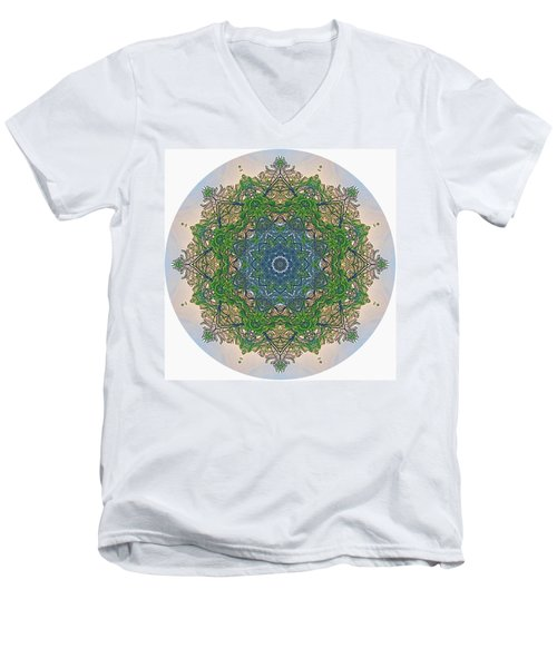 Reflections Of Life Mandala Men's V-Neck T-Shirt