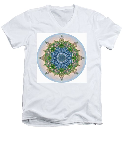 Reflections Of Life Mandala 2 Men's V-Neck T-Shirt