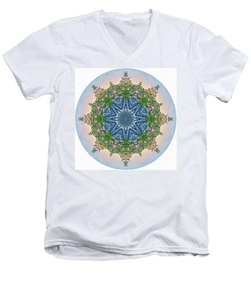 Reflections Of Life Mandala 2 Men's V-Neck T-Shirt