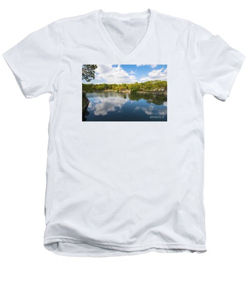 Men's V-Neck T-Shirt featuring the photograph Reflections by Pravine Chester
