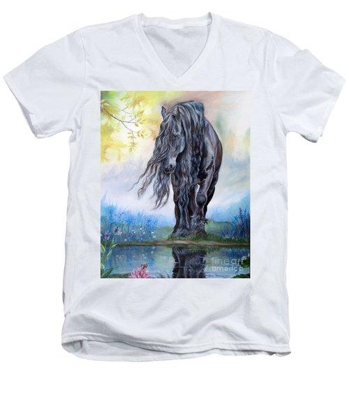 Reflective Beauty Men's V-Neck T-Shirt