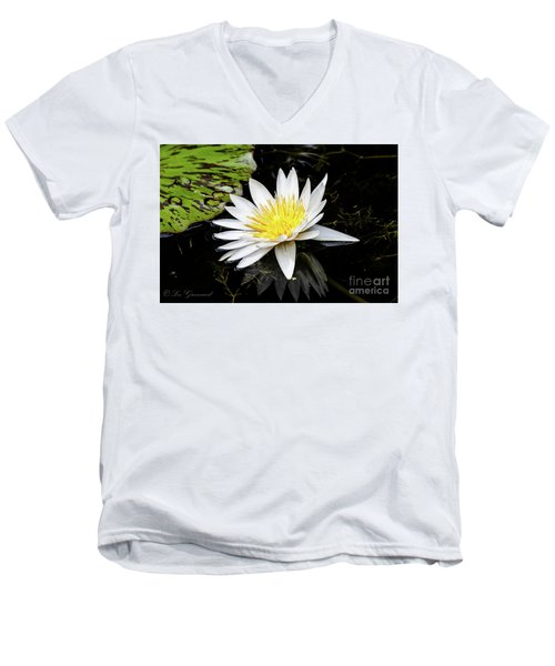 Reflective Lily Men's V-Neck T-Shirt