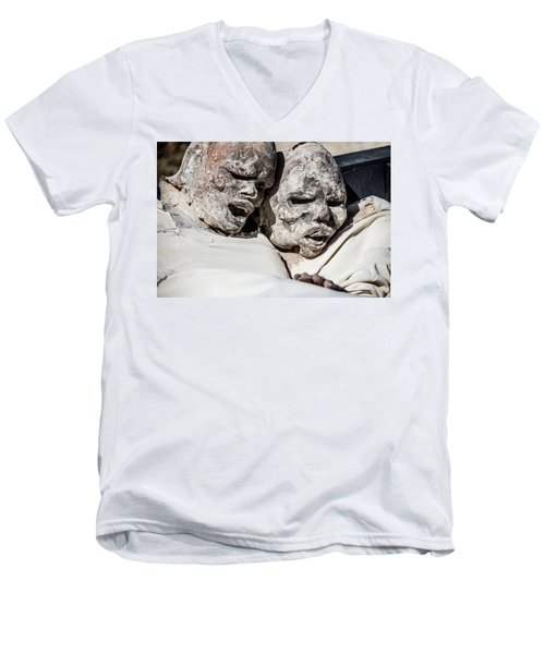 Refuges  Men's V-Neck T-Shirt by Patrick Boening