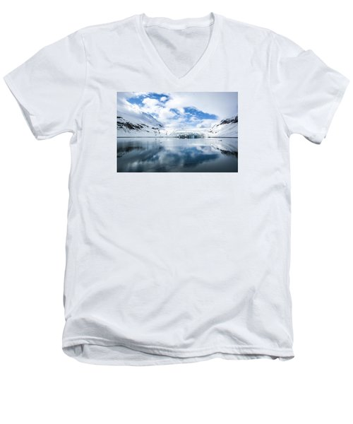 Reid Glacier Glacier Bay National Park Men's V-Neck T-Shirt