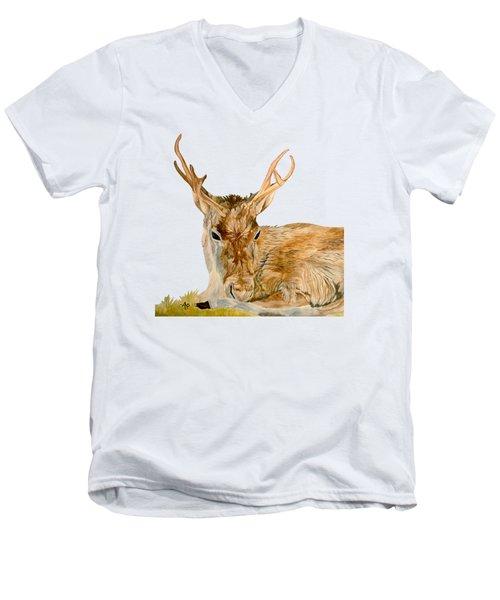 Reindeer Men's V-Neck T-Shirt