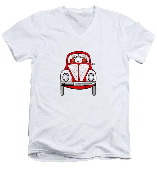 Reindeer Transportation Men's V-Neck T-Shirt