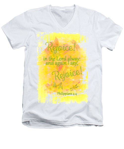 Rejoice Men's V-Neck T-Shirt