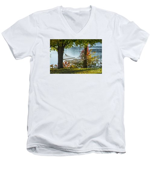 Relax By The Water Men's V-Neck T-Shirt by Alana Ranney