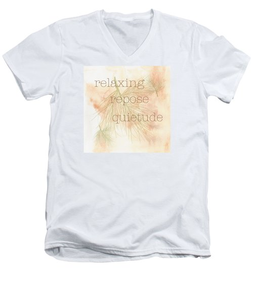 Relaxing Men's V-Neck T-Shirt by Kandy Hurley