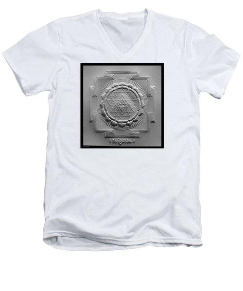 Relief Shree Yantra Men's V-Neck T-Shirt by Suhas Tavkar