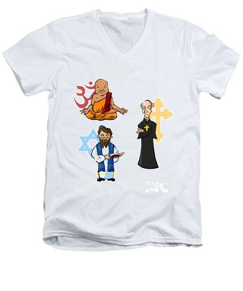 Religious Icons Men's V-Neck T-Shirt by Whitney Morton