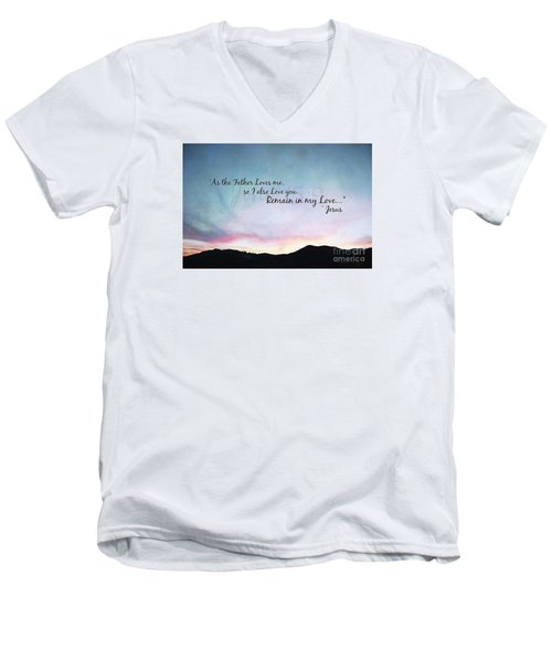 Remain In My Love - Digital Paint Effect Men's V-Neck T-Shirt by Sharon Soberon