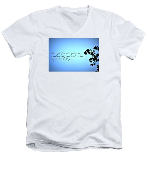 Remember Men's V-Neck T-Shirt by Artists With Autism Inc