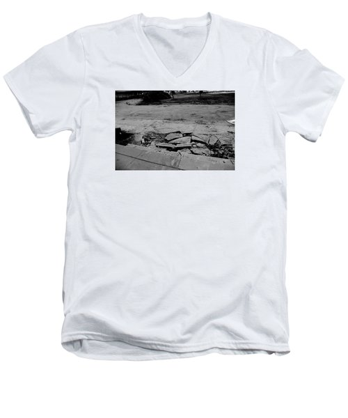 Remains Of The Day  Men's V-Neck T-Shirt