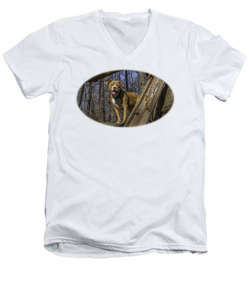 Remy In Tree Oil Paint For Shirts Mainly Men's V-Neck T-Shirt