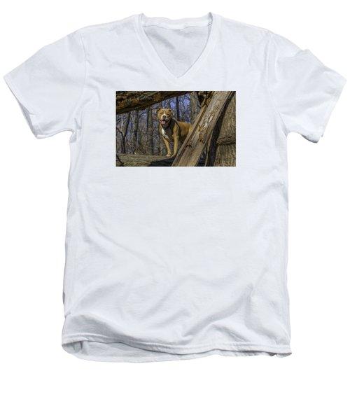 Remy In Tree Oil Paint More Pop Men's V-Neck T-Shirt