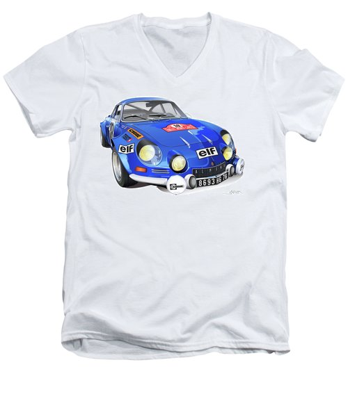Alpine Renault A110 Men's V-Neck T-Shirt