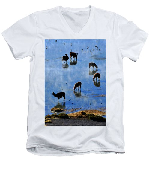 Men's V-Neck T-Shirt featuring the photograph Rendezvous by Skip Hunt