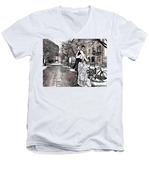 Renoir In Stokholm Collage Renoir Men's V-Neck T-Shirt