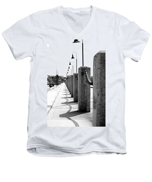 Repetition Men's V-Neck T-Shirt by Greg Fortier