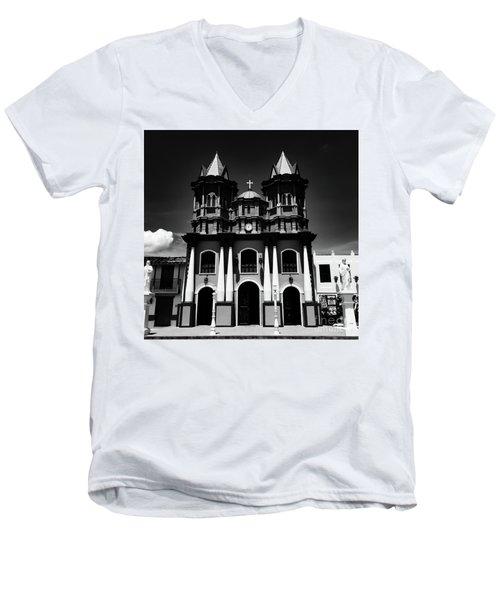 Replica Church In El Penol Men's V-Neck T-Shirt