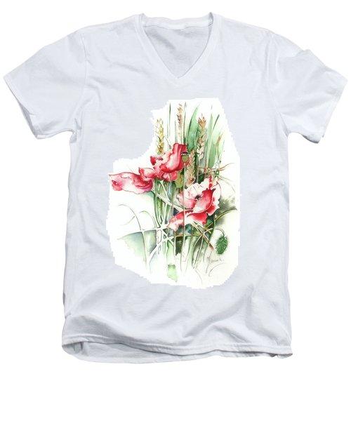 Residents Of Green Fields Men's V-Neck T-Shirt by Anna Ewa Miarczynska