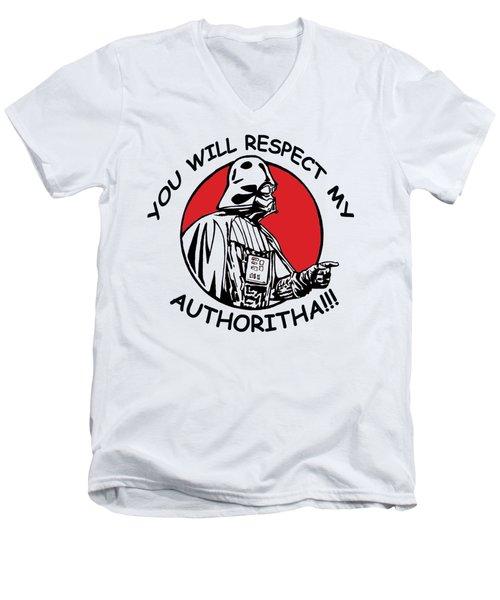 Respect My Men's V-Neck T-Shirt