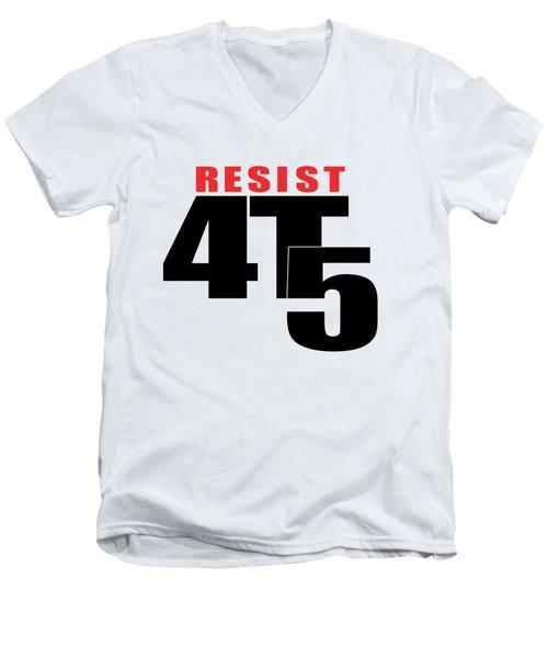Resist #112 Men's V-Neck T-Shirt