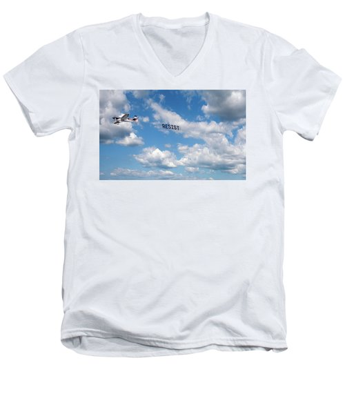 Resist Airplane Men's V-Neck T-Shirt