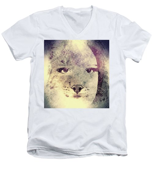 Resistance Of The Pussy Cat Men's V-Neck T-Shirt