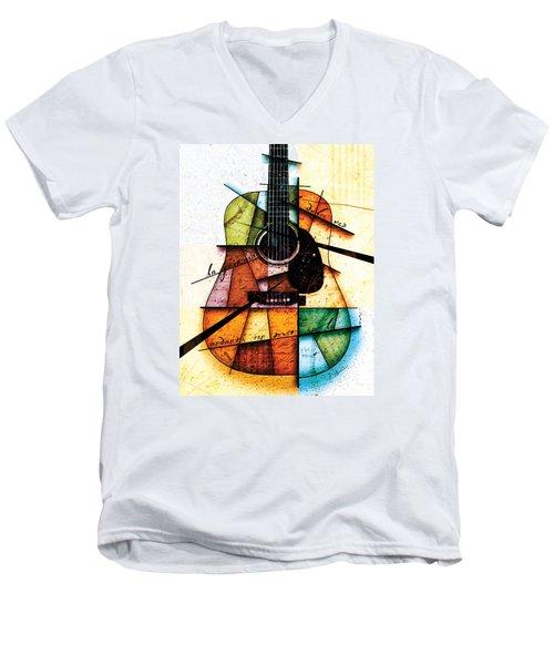 Resonancia En Colores Men's V-Neck T-Shirt by Gary Bodnar
