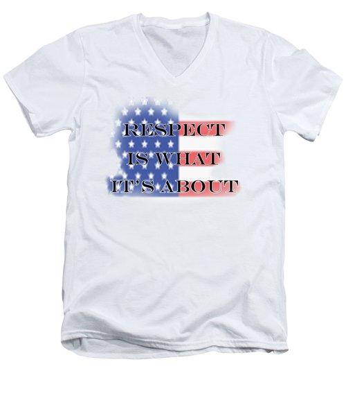 Respect Men's V-Neck T-Shirt