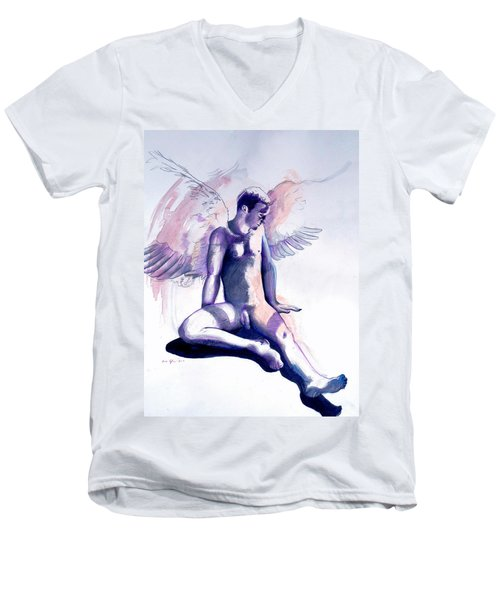 Resting Angel Men's V-Neck T-Shirt